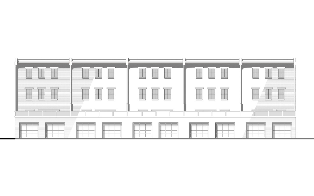 Cromley Row Elevation - Rear